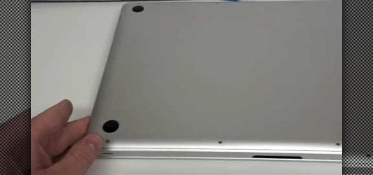 Bottom of macbook scratched