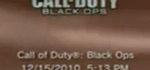 Black Ops 1.04 Update Patch on the PlayStation 3