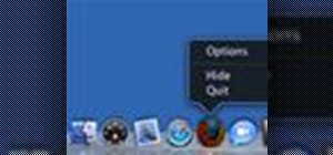 Use the Mac OS X VoiceOver tool to access the dock