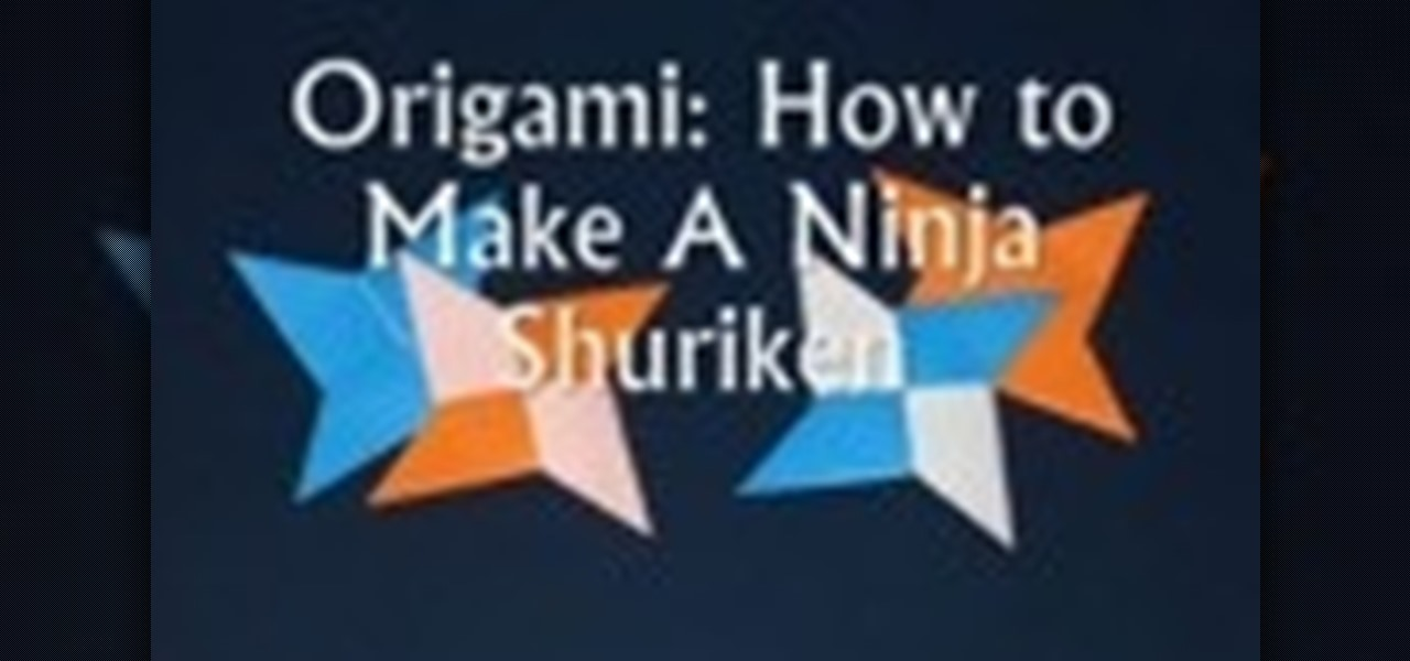 How To Make An Origami Shuriken Ninja Star Origami Wonderhowto