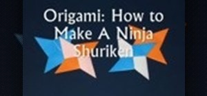 Make an origami Shuriken (ninja star)