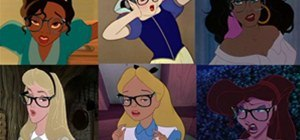 Disney Princesses as Hipsters (Just Add Glasses)