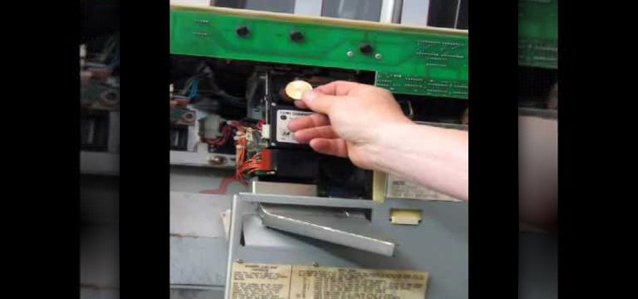 How to Install a coin into the comparitor of a slot machine