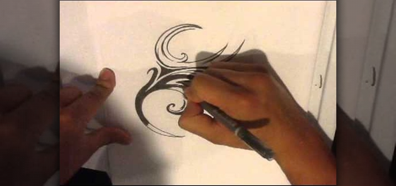 Draw a Tattoo - Tribal Tattoo