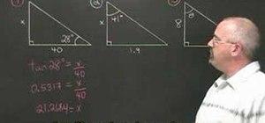 Use the TOA formula in trigonometry