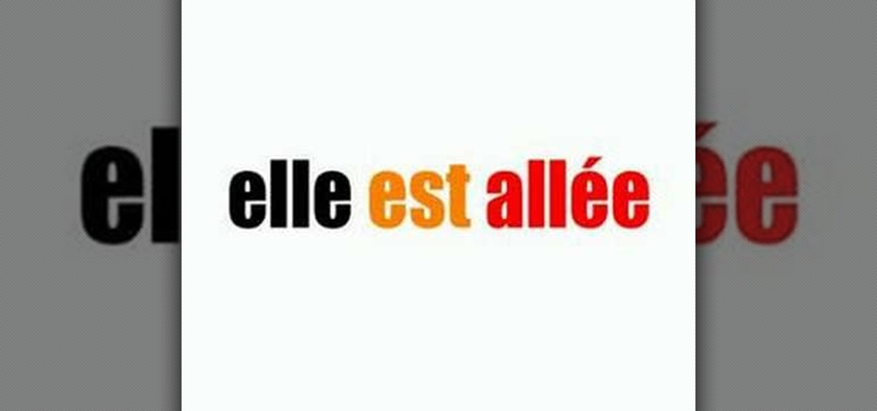 How to conjugate aller in french in the past tense for Porte french conjugation