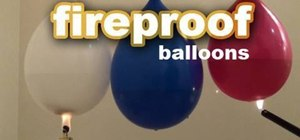 Fireproof a balloon
