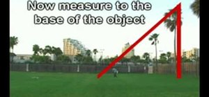 Use a protractor to measure the height of any object
