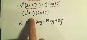 Factor by grouping in intermediate algebra