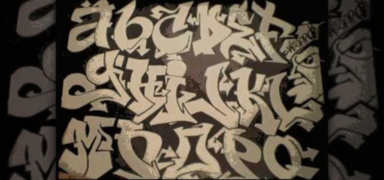 How to Draw a graffiti alphabet for beginners « Graffiti & Urban Art title=