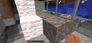 Construct an aquaduct to carry water around in your Minecraft game
