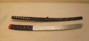 Build a samurai katana sword out of cardboard