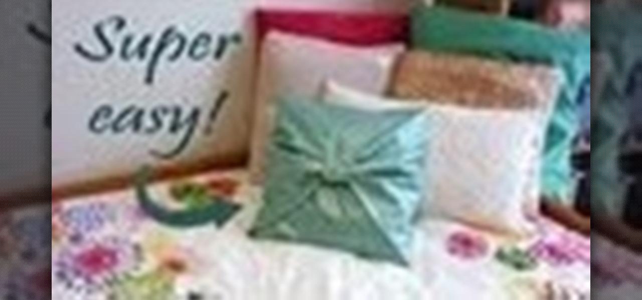 Make a No-Sew Pillow Cover