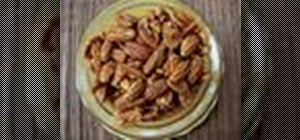 Bake garlic and sugar spiced pecans for the holidays