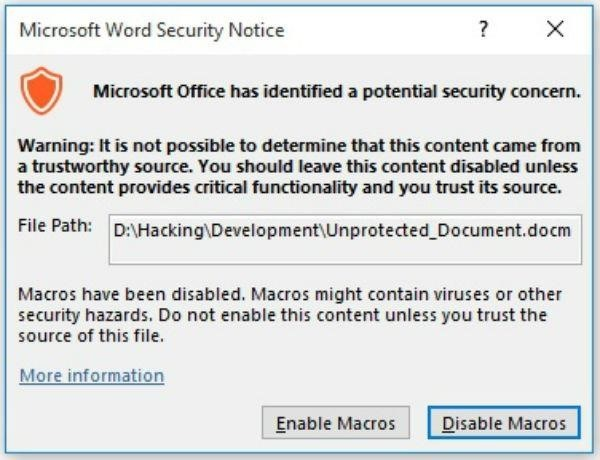How to Execute Code in a Microsoft Word Document Without Security