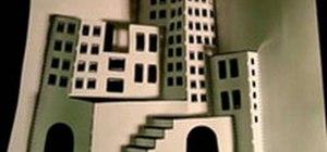 Make a 3D paper city