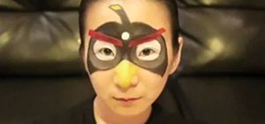 Use Makeup to Make a Black Angry Bird Costume