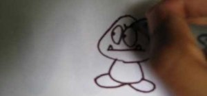 Draw a Goomba from Super Mario