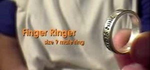 Perform the Ringer Finger magic trick