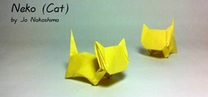 Make a folded-paper cat with origami