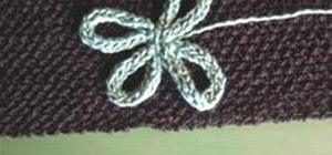 Make a Flower From a Knitted I-Cord