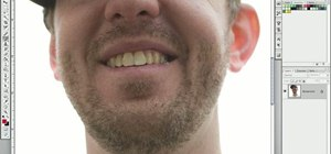 Turn yellow teeth into perfect pearly whites using a layer mask in Photoshop