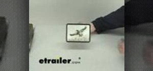 Install a trailer hitch cover