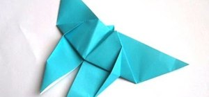 Origami a simple butterfly for beginners