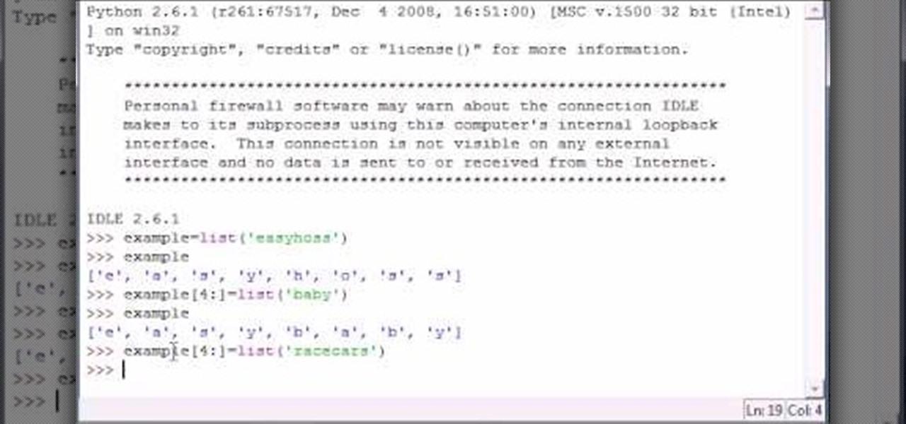 How to Program slice lists in Python « Python :: WonderHowTo