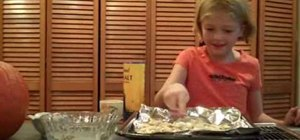 Bake pumpkin seeds for kids