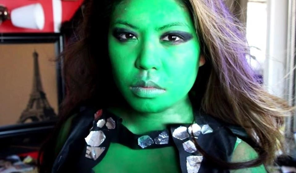 7gamora from guardians of the galaxy - Green Halloween Dress