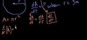 Solve rate-of-change problems with the chain rule