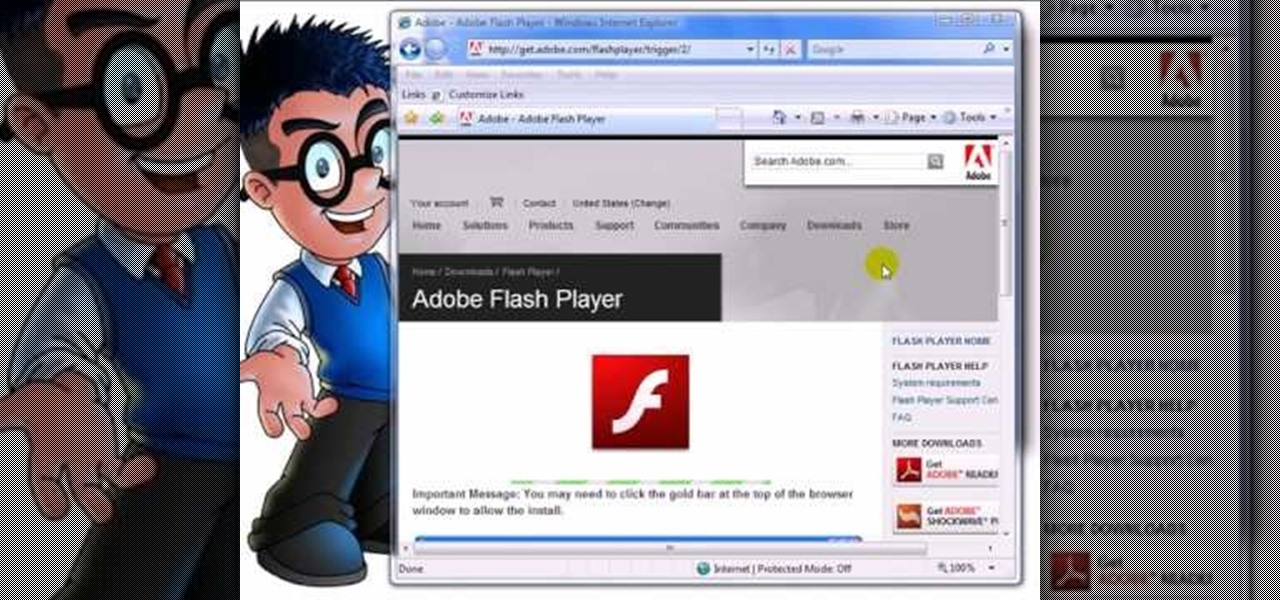 flash player for explorer