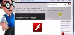 Install the Adobe Flash Player in Internet Explorer
