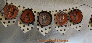 Make a Happy Halloween banner for your Halloween party
