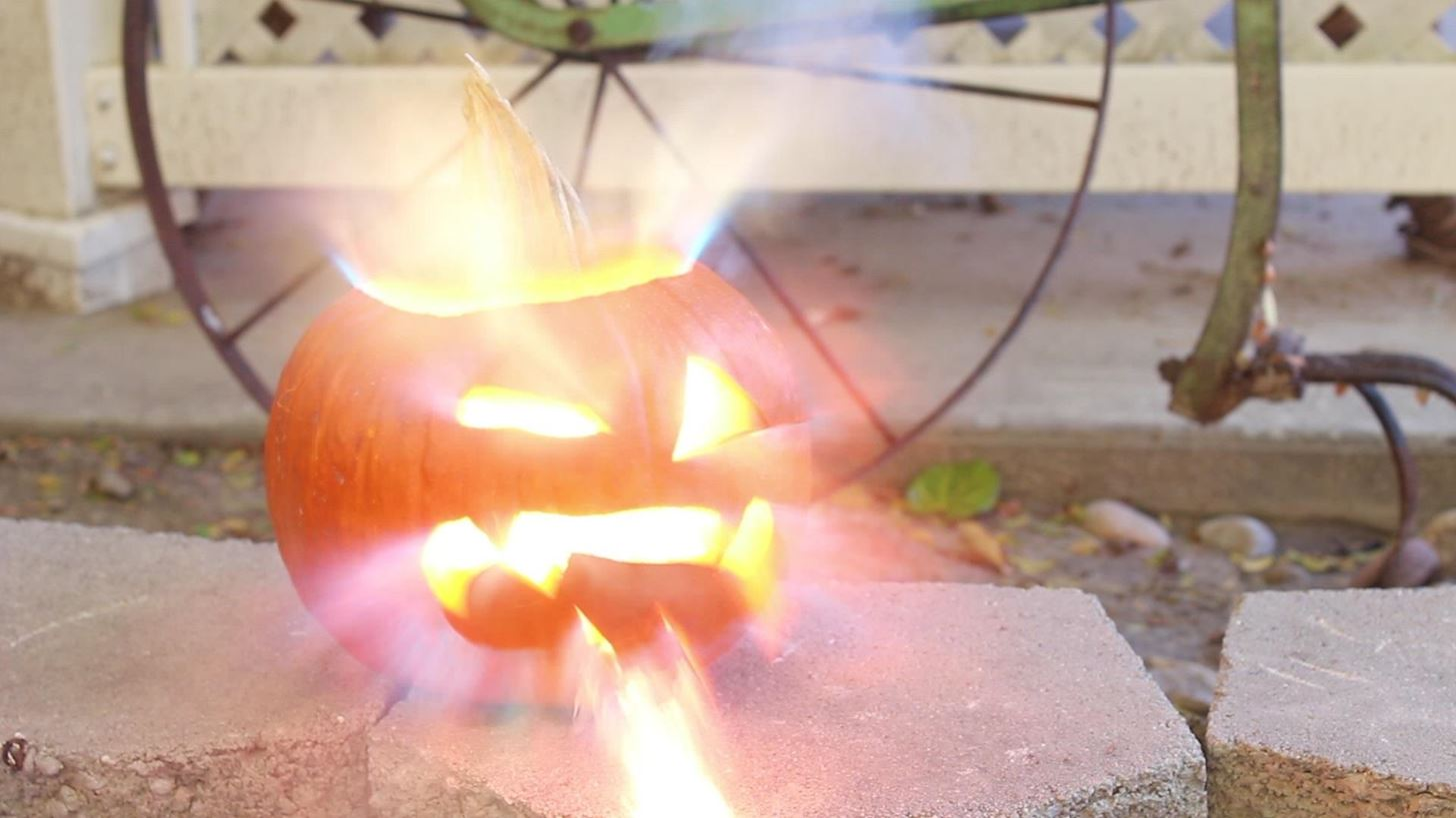 How to Make an Exploding Pumpkin Face (aka Blast-O'-Lantern) for Halloween