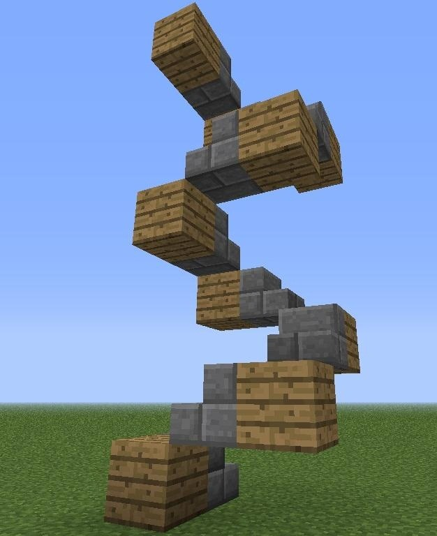 Minecraft Spiral Staircase : How to create the smartest design for a spiral staircase