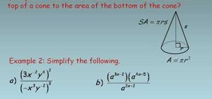 Simplify algebraic expressions involving exponents
