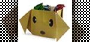 Origami a dog box Japanese style