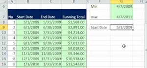 Create a running total from transaction data in Excel