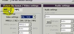 Convert Flash FLV files to AVI video