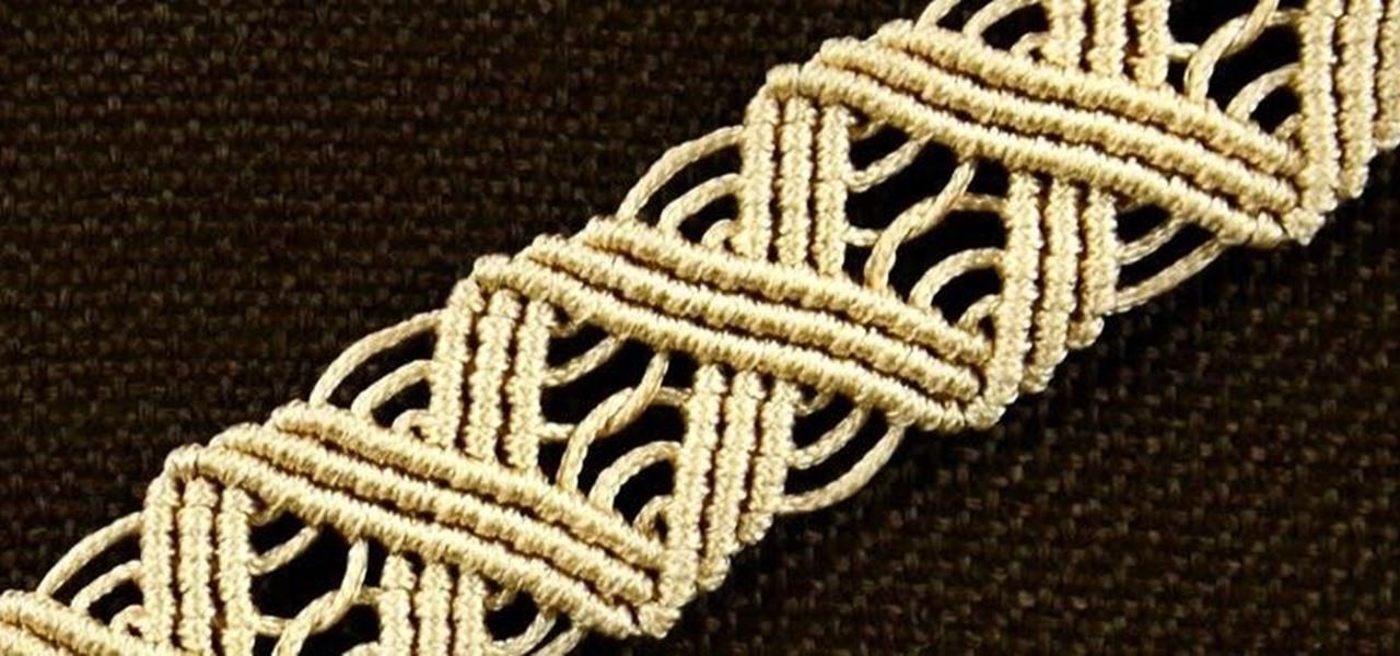 Wavy Macrame ZigZag Bracelet Tutorial