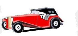 Draw a vintage car