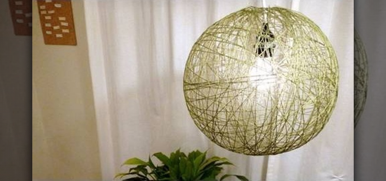 Marvelous How To Make A Lamp Part - 12: How To Make A Really Cool Lamp Out Of String « Interior Design ::  WonderHowTo
