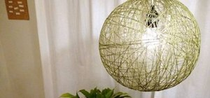 Make a really cool lamp out of string