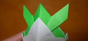 Make a tsuno-kabuto samurai helmet out of origami