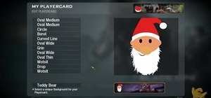 Make a Santa Claus Call of Duty Black Ops playercard / emblem