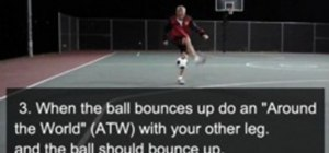 Do the Toe Bounce freestyle soccer trick