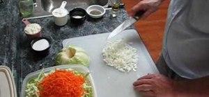 Make sweet creamy coleslaw