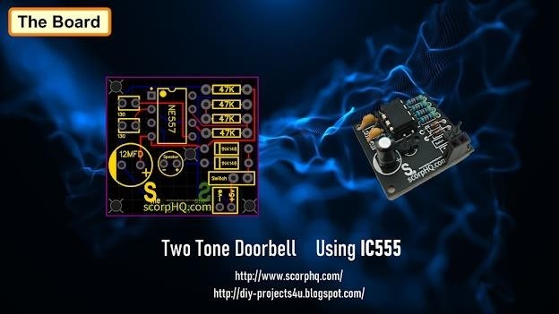 Two Tone Doorbell Using IC 555